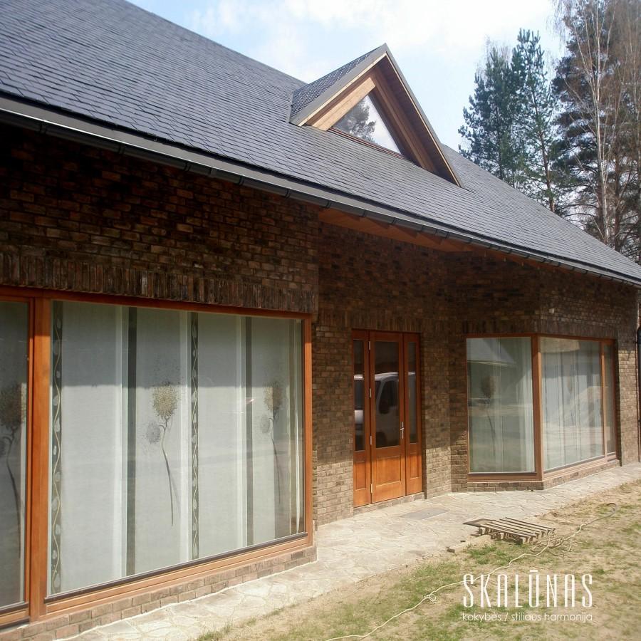 902 Stogas, natūralus akmuo, skalūnas,  40x25cm, Druskininkai, 2009