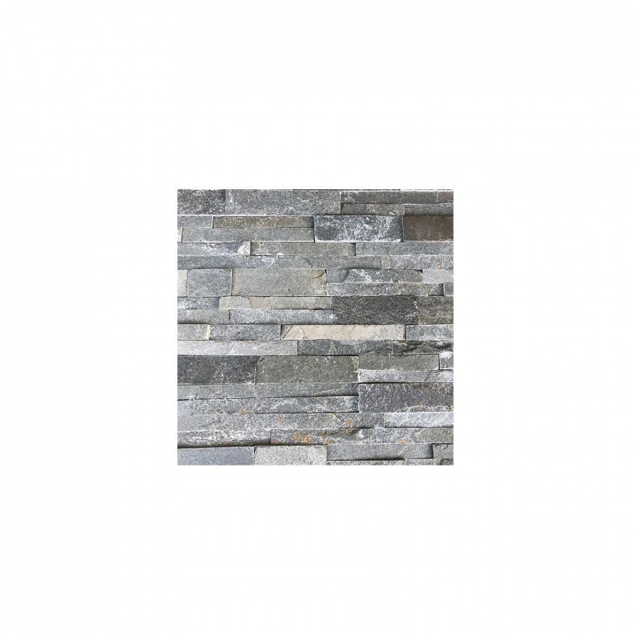 23 eur/m2 - Natūralus akmuo , KVARCITAS, HYCTSILVER, 1vnt. - 0.09m2