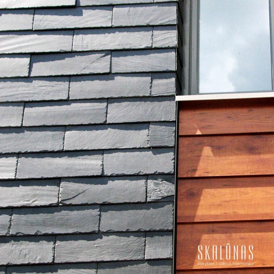 940 Fasadas, natūralus akmuo, skalūnas, 40x20, Vilnius 2013
