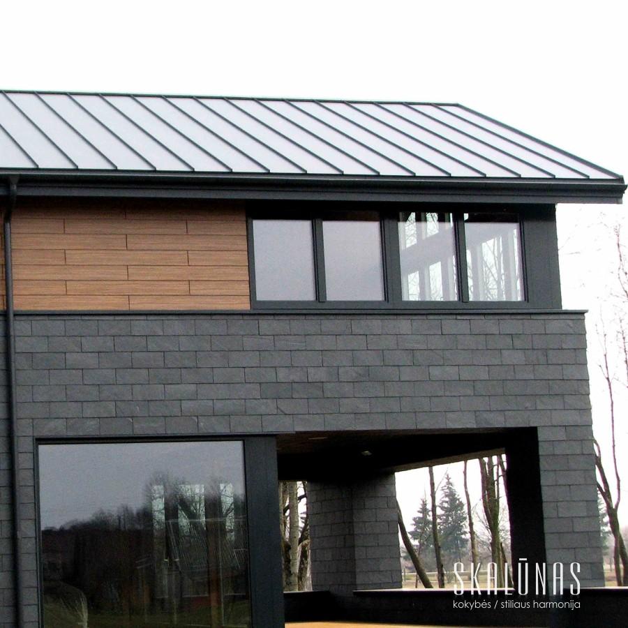 951 Fasadas, natūralus akmuo, skalūnas, 40x25, Marijampolė 2014