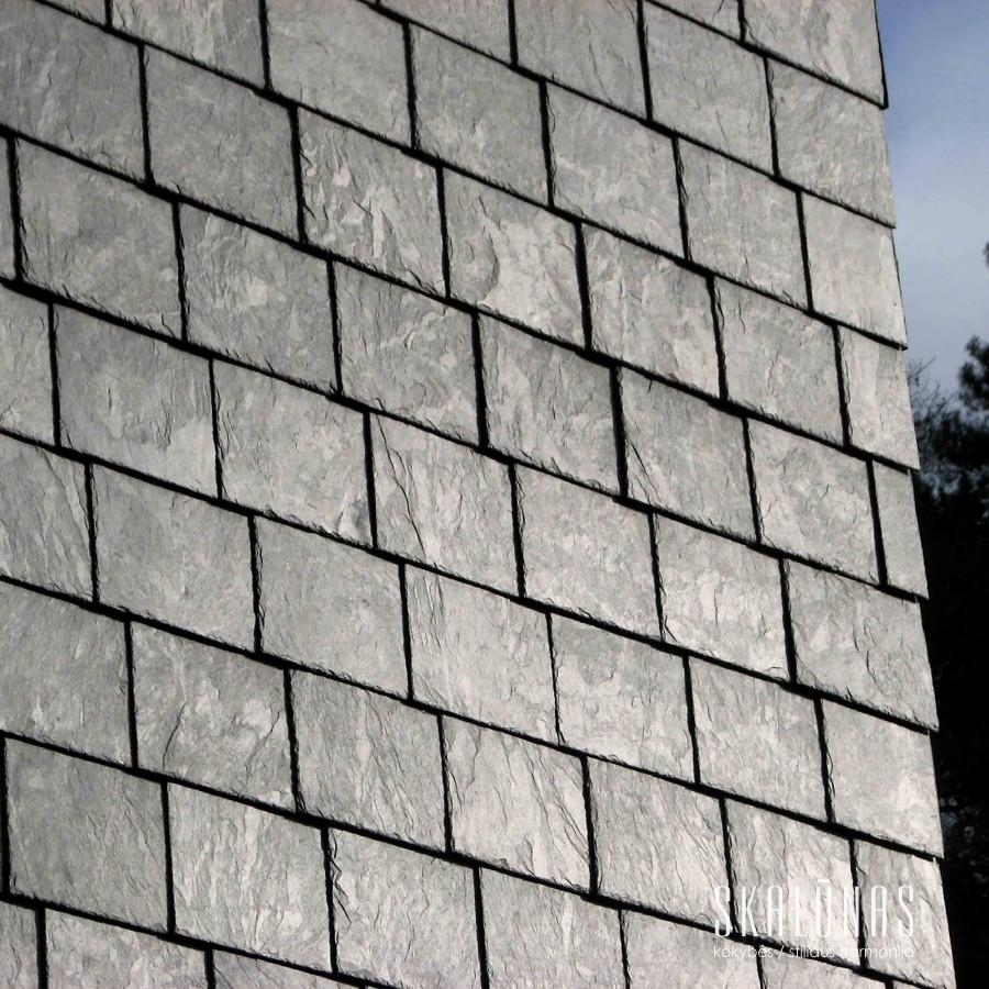 953 Fasadas, natūralus akmuo, skalūnas, 35x25, Vilnius 2014